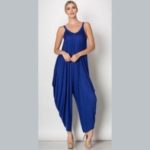 Harem Style Jumpsuit Romper in Royal Blue 5 ⭐️